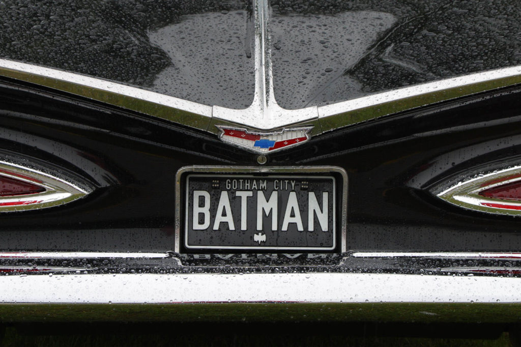 Plaque d'immatriculation Batman